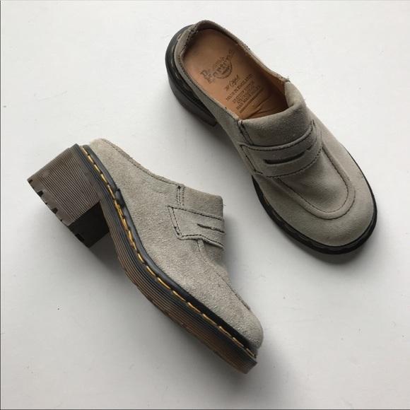 Dr. Martens Shoes - Dr. Marten Mule Heel Loafer Suede Made in England